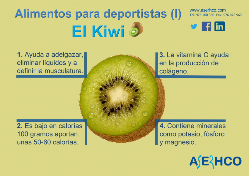 Kiwi, una fruta para deportistas