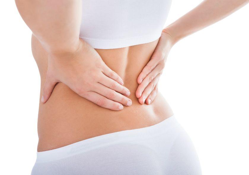 38 semanas del dolor en la espalda que esto