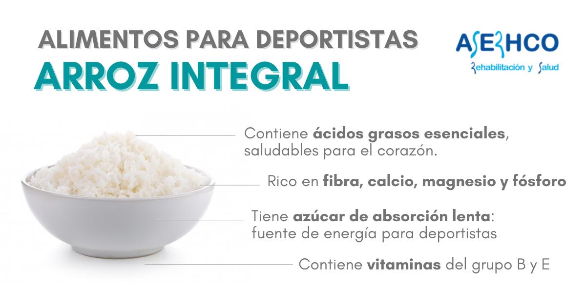 Beneficios del arroz integral para los deportistas