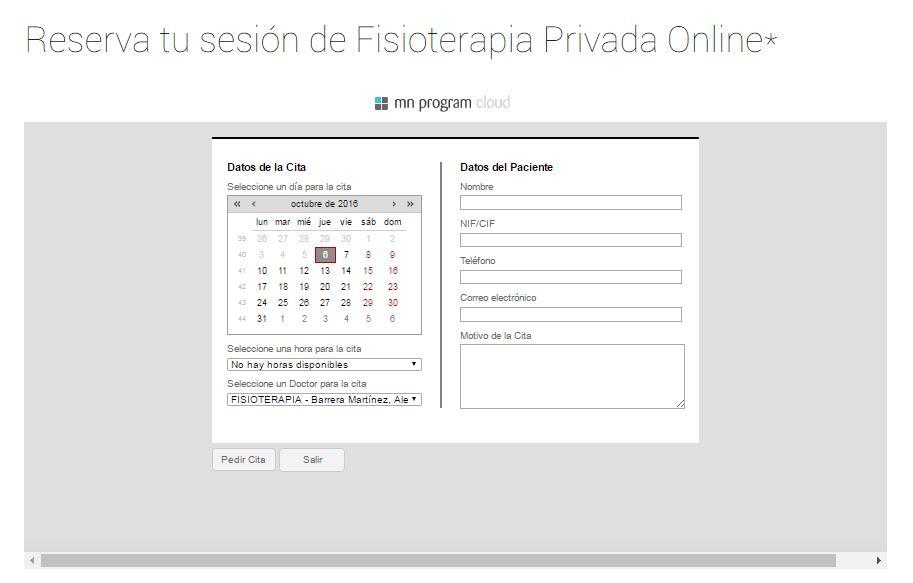 Cita Online Fisioterapia Zaragoza
