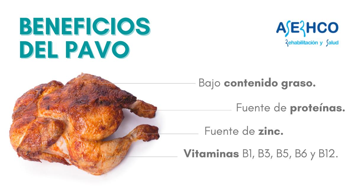 propiedades de la carne del pavo