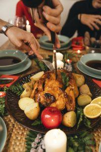 Pavo, alimentos saludables y navideños
