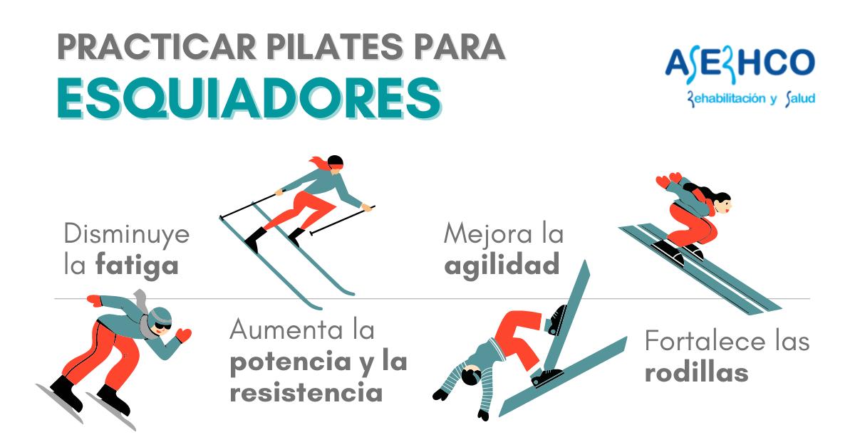 beneficios de pilates para los esquiadores
